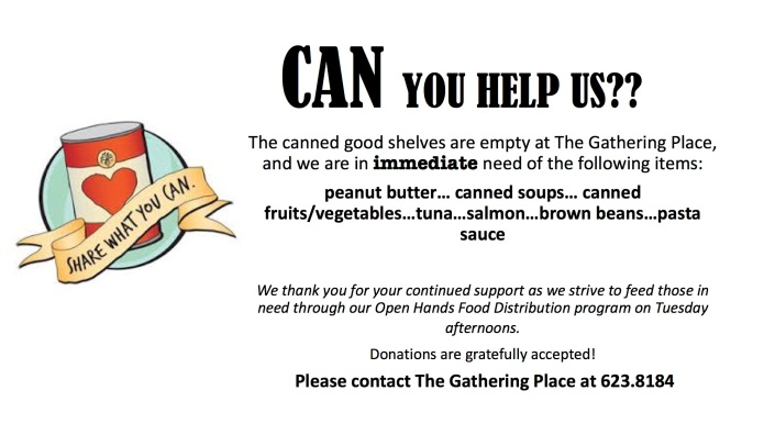 canned food request picture for facebook