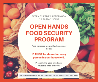 OPEN HANDS FOOD SECURITY PROGRAM