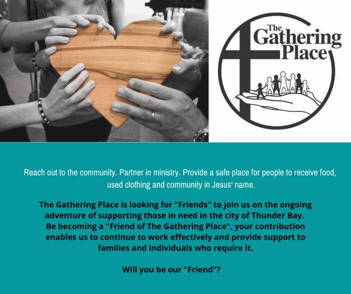 Become a friend of The gathering place!